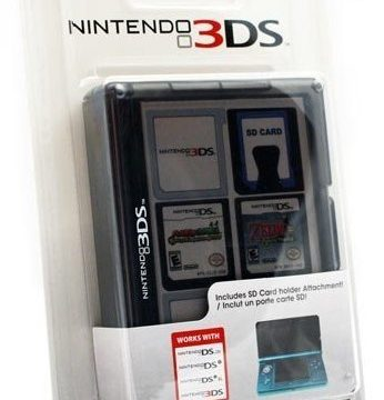 Nintendo 3ds Game Card Case 24 Black Gadget World